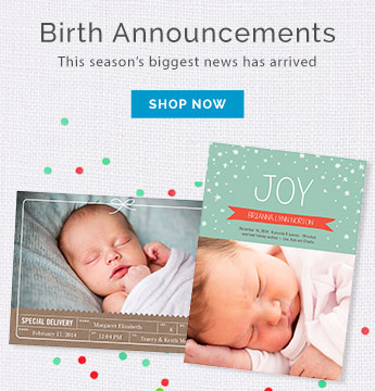 Holiday Birth Announcements - Holiday Photo Cards