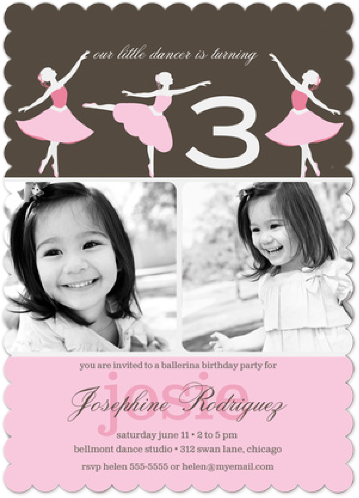 Girl Birthday - Photo Invitations
