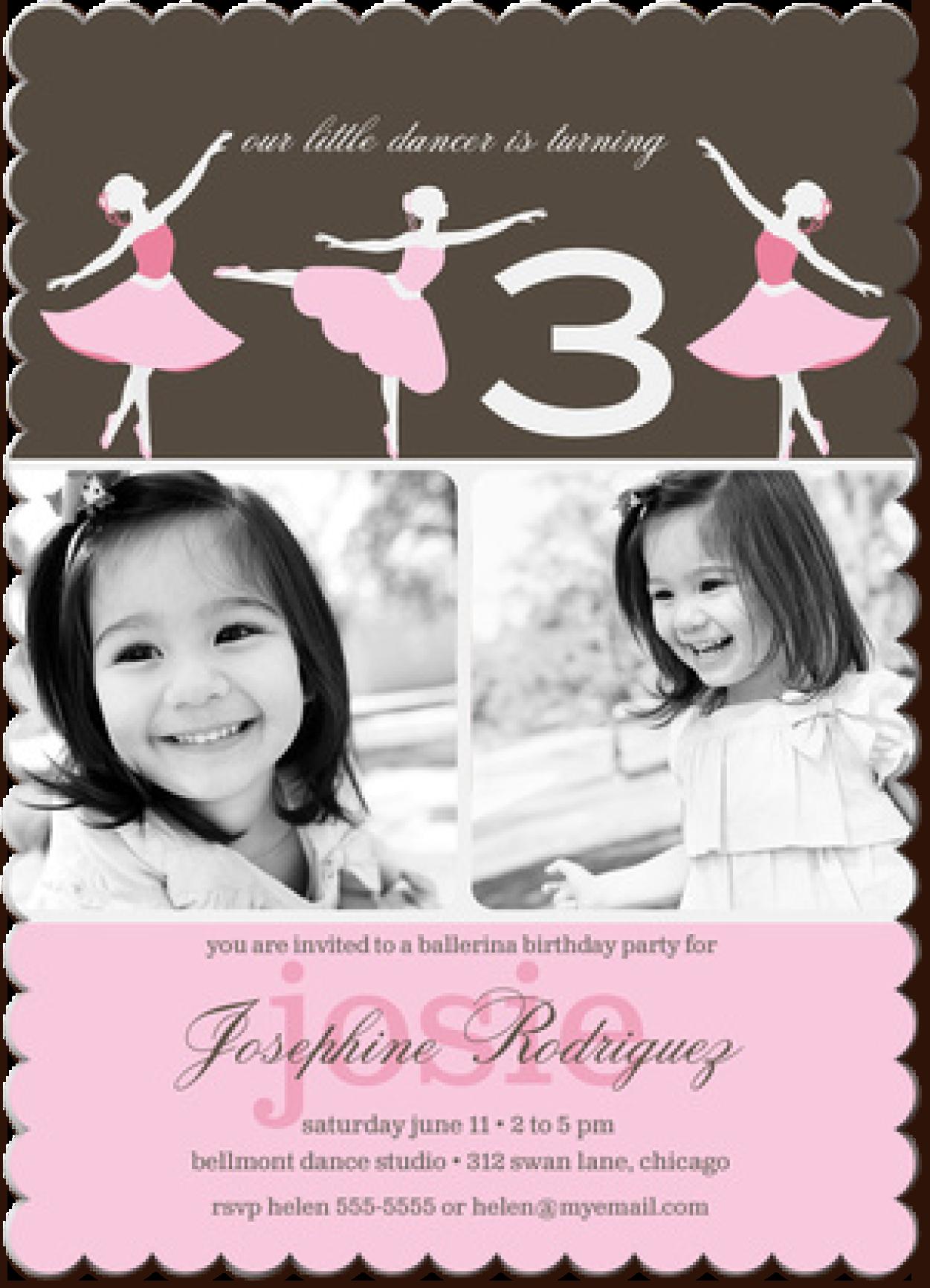 Photo invitations photo affections girl birthday photo invitations filmwisefo