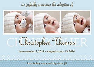 Adoption - Photo Invitations