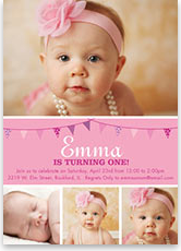 Photo birthday invitations photoaffections first birthday invitations first birthday invitations filmwisefo